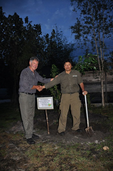 Harrison and Nyaru Menteng Program Manager Anton Nurcahyo